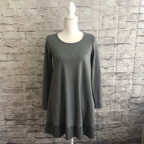 fc9e09fe0022d Anthropologie Dresses | Puella Grey Sweater Swing Dress | Poshmark